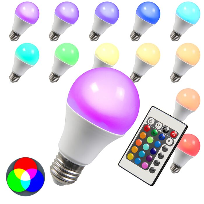 LED-lemputė-RGB-E27-3W