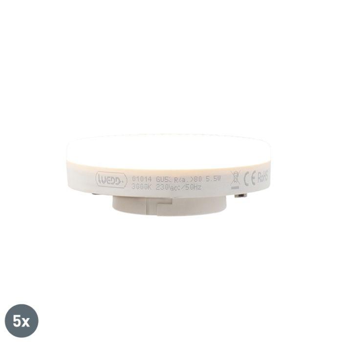 5-GX53-LED-lempos-rinkinys-5,5-W-470-liumenų-3000K