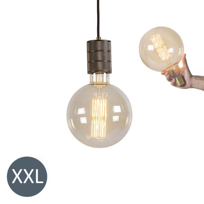 "Pakabinama-lempa-bronzinė-""Megaglobe""-su-reguliuojama-LED-lempa"