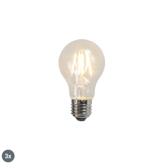 Kaitinamoji-LED-lempa-A60-4W-2700K-skaidrus-rinkinys-iš-3