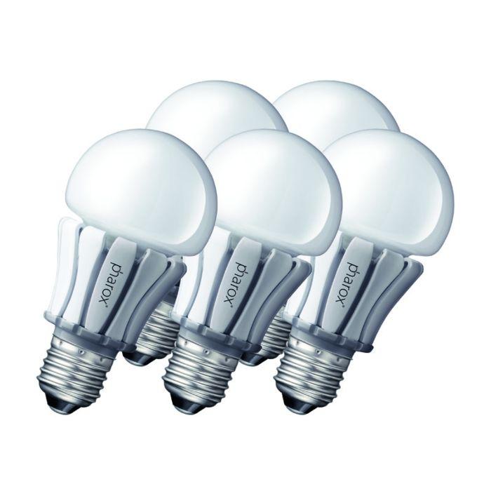 """5-""""Pharox""""-LED-lempos-rinkinys-400-E27-8W-230V"""