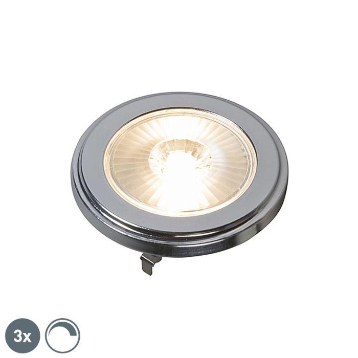 3-G53-pritemdomų-AR111-LED-lempučių-rinkinys-10W-800LM-3000K