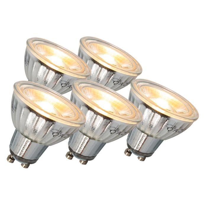 GU10-LED-lempa-7W-500LM-3000K-pritemdoma-5-komplektų