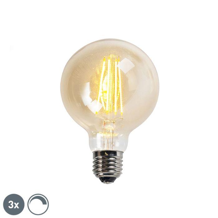 """3-""""E27""""-reguliuojamų-LED-kaitinamųjų-lempų-rinkinys-""""goldline-G95-5W-450LM-2200K"""""""