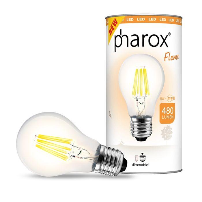 """""""Pharox""""-LED-lempa-""""Flame-E27""""-6W-480-liumenų"""