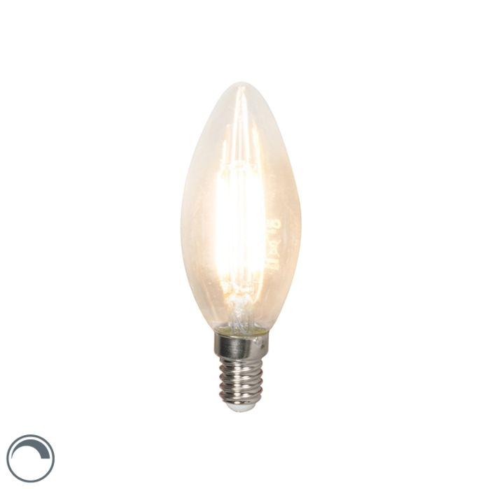 LED-kaitinamoji-žvakių-lempa-E14-240V-3,5-W-350lm-B35-pritemdoma