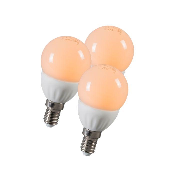 LED-kamuolys-E14-3W-250-liumenų-maždaug-25W-3-rinkinys