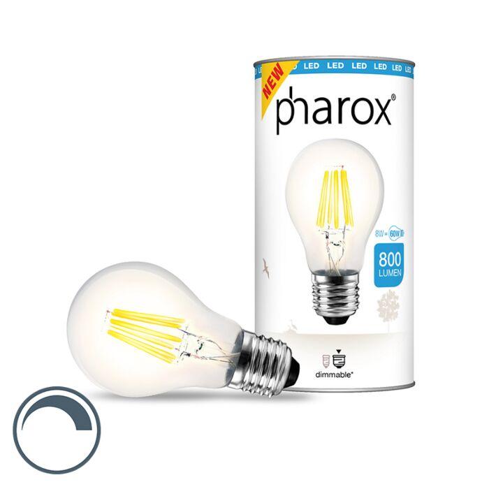 """Pharox""-LED-lempa-skaidrus-E27-8W-800-liumenų"