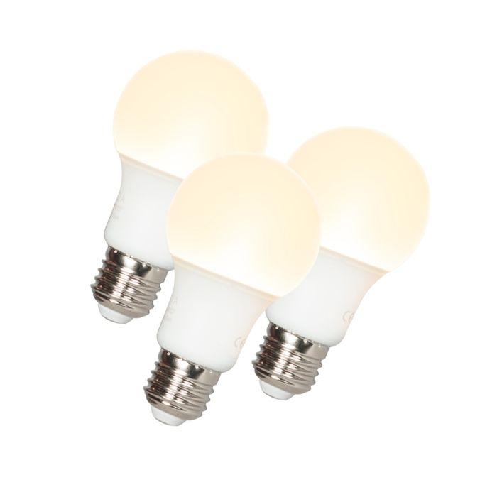 3-LED-lempų-komplektas-A60-E27-9W-3000K