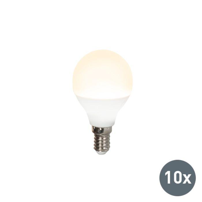 10-LED-lempučių-P45-E14-3W-3000K-rinkinys