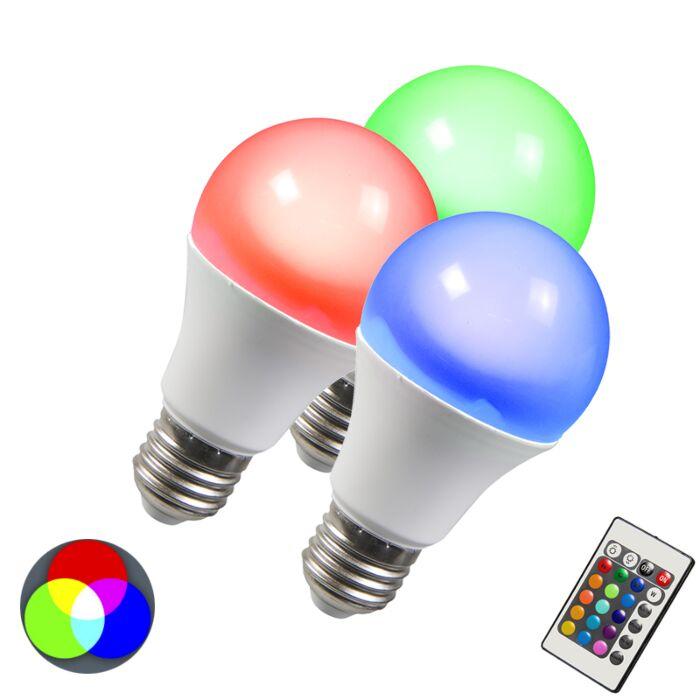 Šviesos-diodų-lemputė-RGB-E27-10W-ypač-šiltai-balta-3-komplektų
