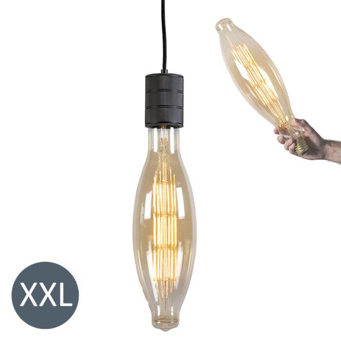 "Pakabinama-lempa-""Elips""-juoda-su-reguliuojama-LED-lempa"