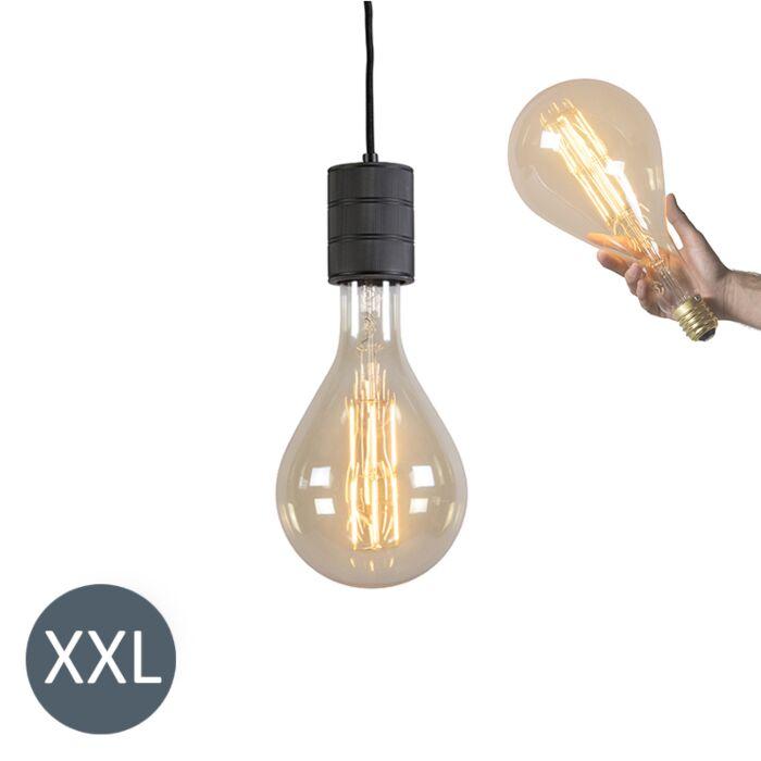 Pakabinama-lempa-Splash-juoda-su-reguliuojama-LED-lempa