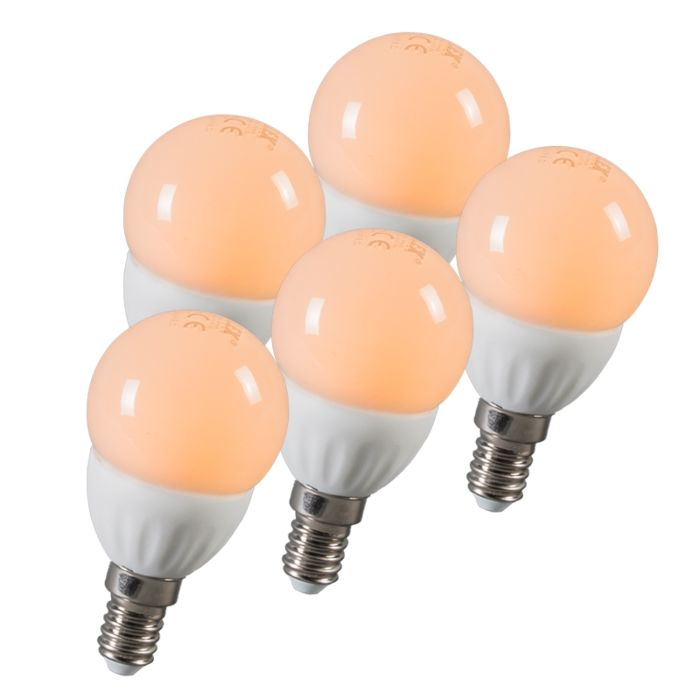 LED-kamuolys-E14-3W-250-liumenų-maždaug-25W-rinkinys-iš-5
