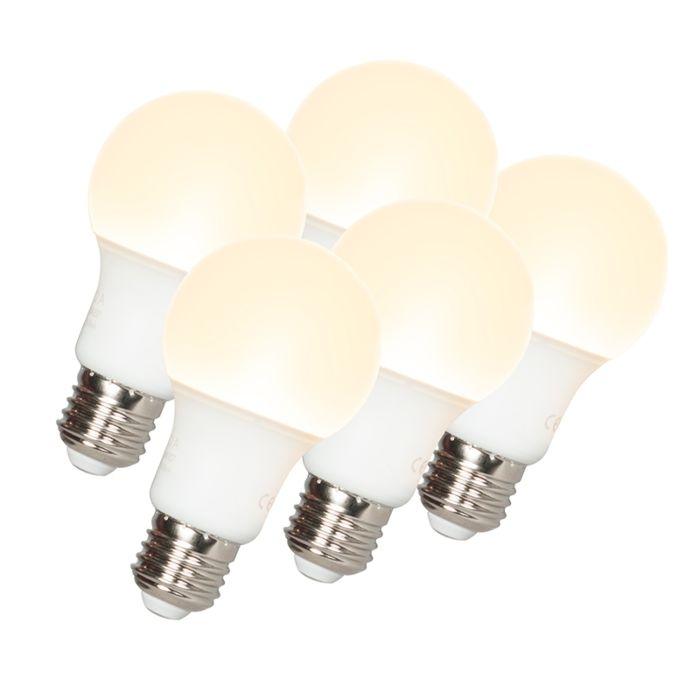 5-LED-lempučių-komplektas-A60-E27-9W-3000K