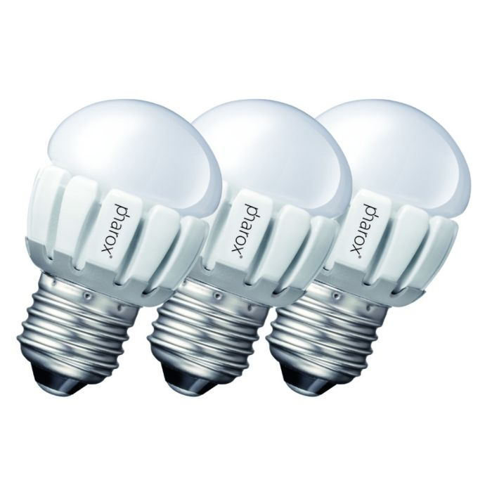 """3-""""Pharox-LED-200-P45-E27-5W-230V""""-rinkinys"""