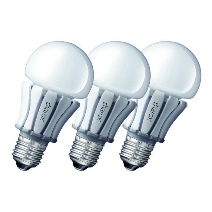 "3-""Pharox""-LED-lempų-rinkinys-400-E27-8W-230V"