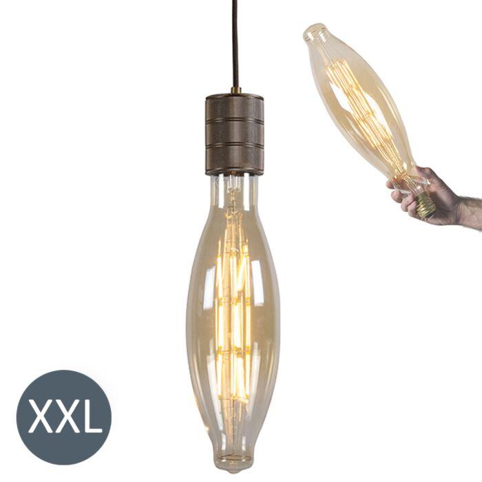 """Pakabinama-lempa-""""Elips""""-bronzinė-su-reguliuojama-LED-lempa"""