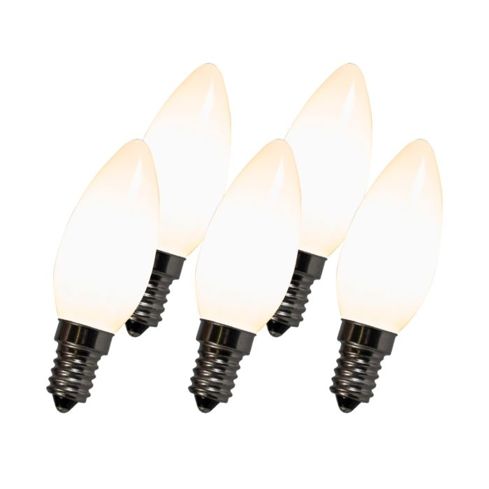 Kaitinamoji-LED-lempa-C35-E14-2W-2700K-balta-komplektacija-iš-5
