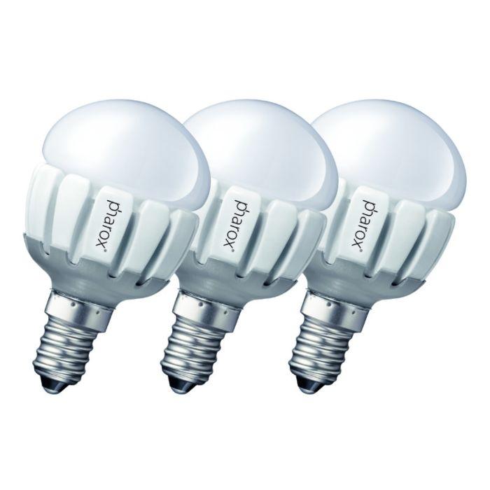 """3-""""Pharox-LED-200-P45-E14-5W-230V""""-rinkinys"""