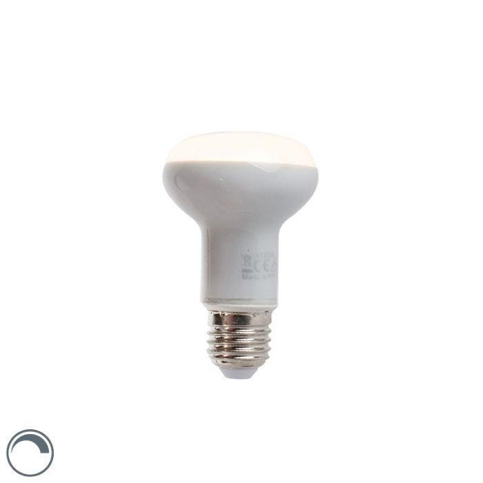 Reguliuojama-LED-reflektorinė-lempa-E27-5W-370-liumenų-šilta-balta-2900K-R63