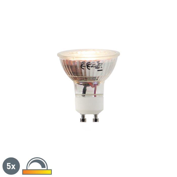 5-LED-lempučių-GU10-5W-2000-2700K-rinkinys