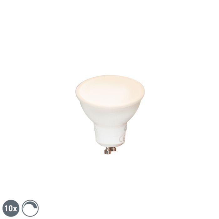 10-GU10-reguliuojamų-LED-lempučių-rinkinys-6W-450-lm-2700K