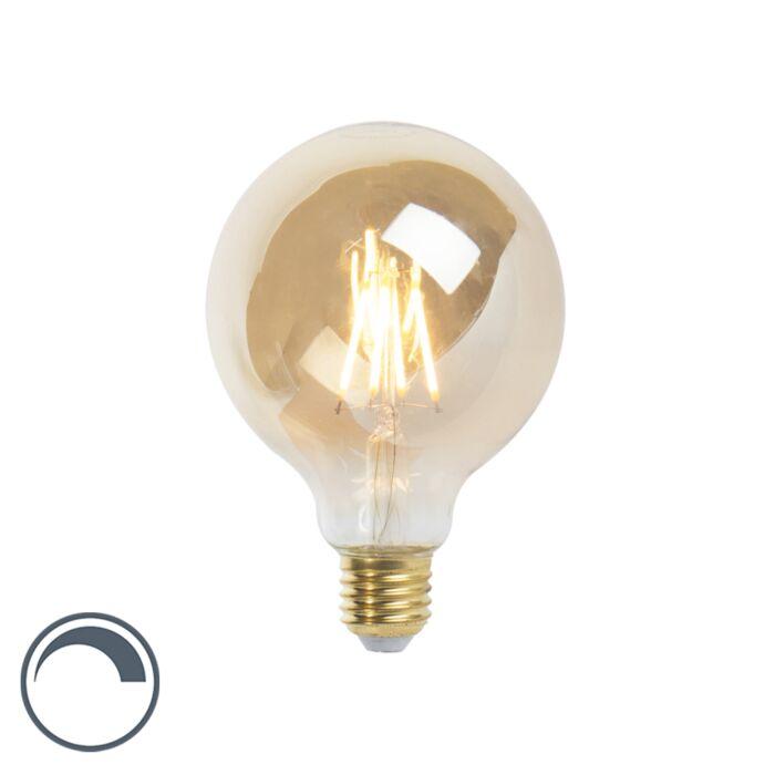 LED-E27-reguliuojama-kaitinamoji-lempa-G95-goldline-360lm-2200K