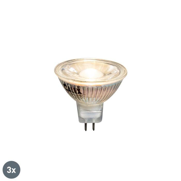 3-LED-lempos-3W-230-liumenų-rinkinys