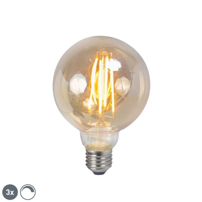 3-šviesos-diodų-kaitinamosios-lempos-rinkinys-E27-5W-2200K-G95-pritemdomas