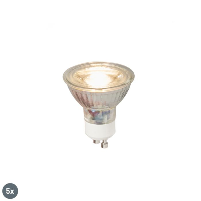 5-GU10-LED-lempos-COB-5W-380LM-3000K-rinkinys