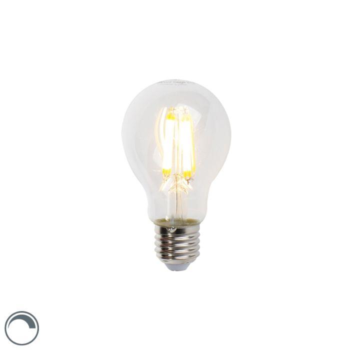 LED-kaitinamoji-lempa-E27-7W-806lm-A60-reguliuojama-skaidri