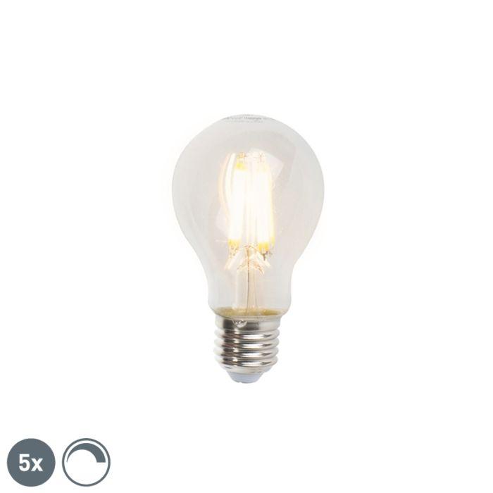 5-reguliuojamų-E27-LED-kaitinamųjų-lempų-rinkinys-A60-7W-806lm-2700K