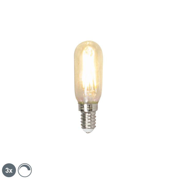 """3-""""E14""""-pritemdomas-LED-T25L-kaitinamojo-vamzdžio-lempos-rinkinys-3W-310-liumenų-2700K"""