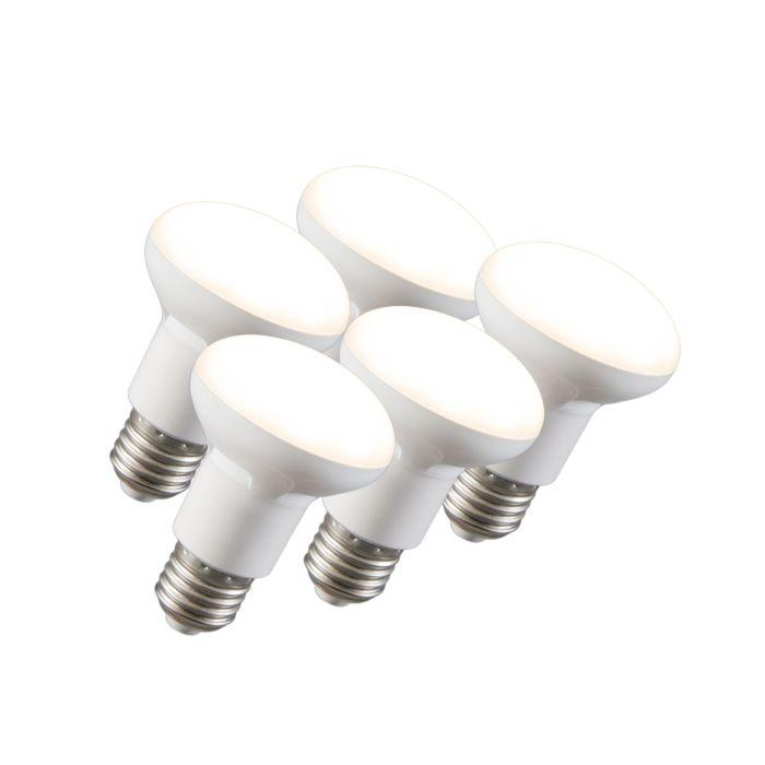 5-šviesos-diodų-reflektorių-lempos-R63-E27-240V-8W-2700K-pritemdomas-rinkinys