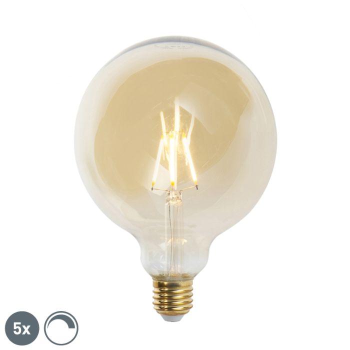5-reguliuojamų-E27-LED-kaitinamųjų-lempų-rinkinys-G125-goldline-2200K