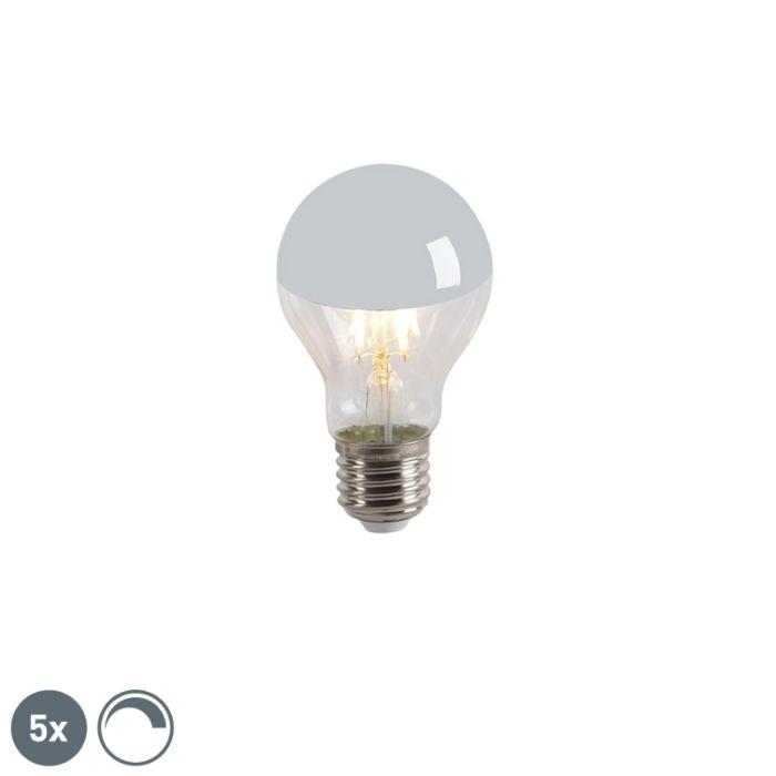 5-LED-kaitinamųjų-lempų-galvos-veidrodėlių-rinkinys-E27-240V-4W-300lm-A60-pritemdomas