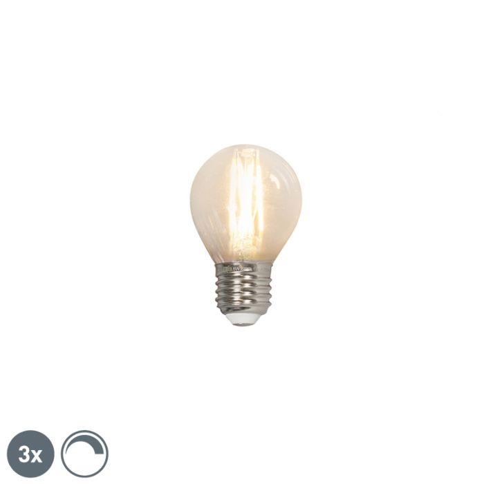 3-šviesos-diodų-kaitinamųjų-kamuolinių-šviestuvų-rinkinys-E27-240V-3,5-W-350lm-P45-pritemdomas