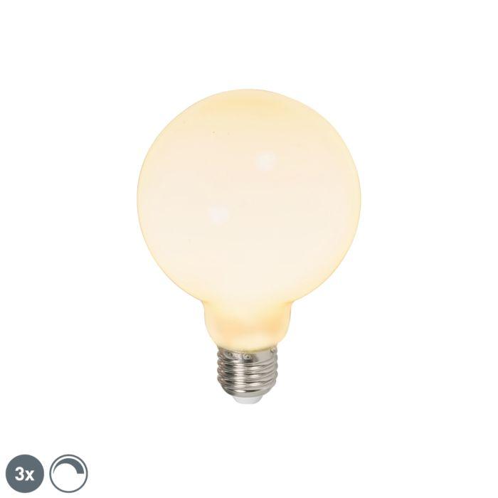 3-šviesos-diodų-gaublių-rinkinys-E27-240V-6W-650lm-pritemdomas