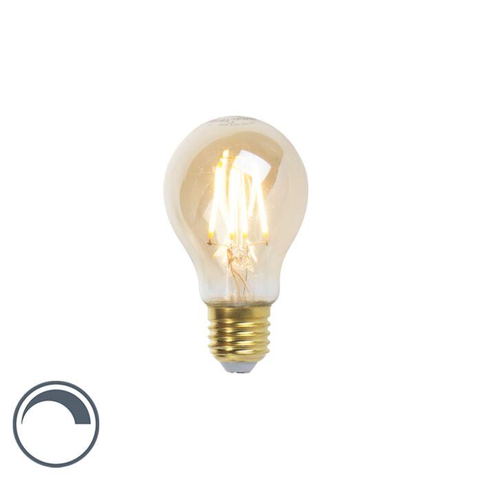 "LED-""Goldline""-kaitinamoji-lempa-E27-5W-360lm-A60-pritemdoma"