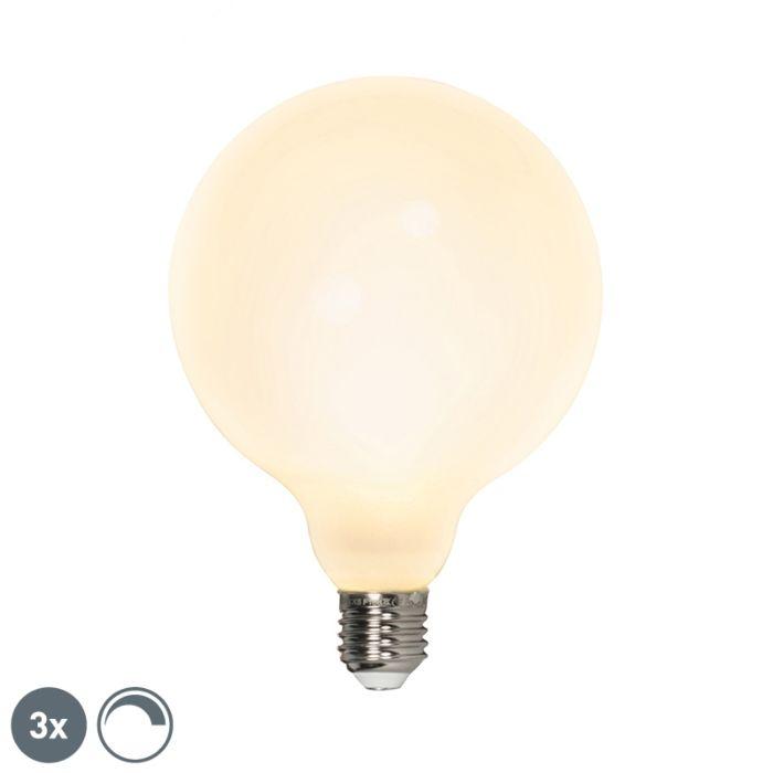 3-šviesos-diodų-gaublių-rinkinys-E27-240V-8W-900lm-pritemdomas
