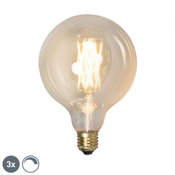 3-reguliuojamų-E27-LED-lempų-rinkinys-G125-goldline-320lm-2100-K.