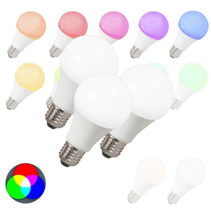 3-LED-lempučių-rinkinys-E27-240V-7W-500lm-A60-Smart-Light