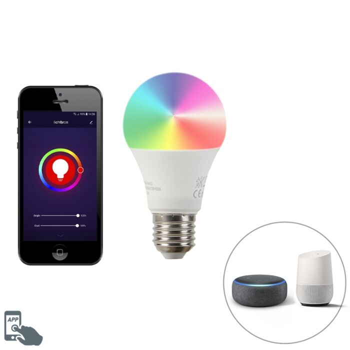 """Smart-E27""-pritemdoma-LED-lempa-A60-9W-700-lm-2200-4000K"