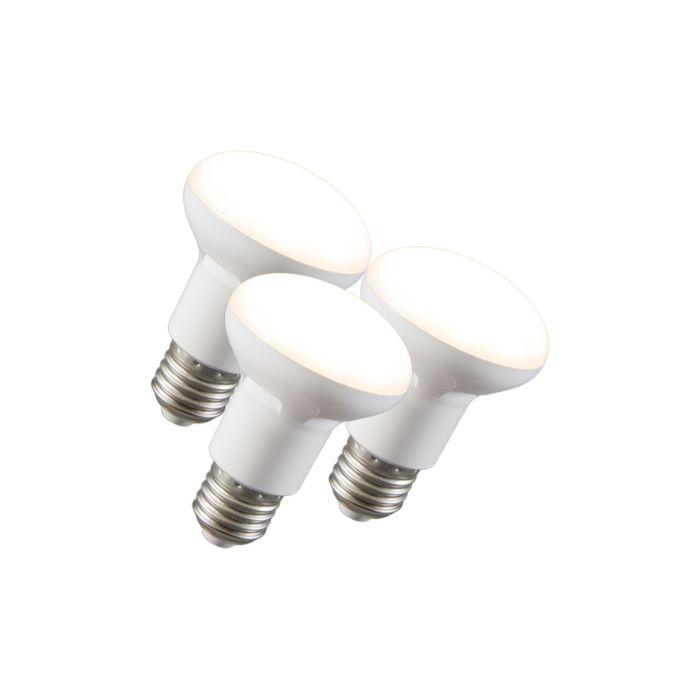 3-šviesos-diodų-reflektorių-lempos-R63-E27-240V-8W-2700K-pritemdomas-rinkinys