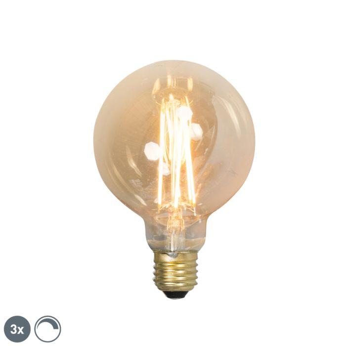 3-reguliuojamų-E27-LED-kaitinamųjų-lempų-rinkinys-G95-goldline-2100K