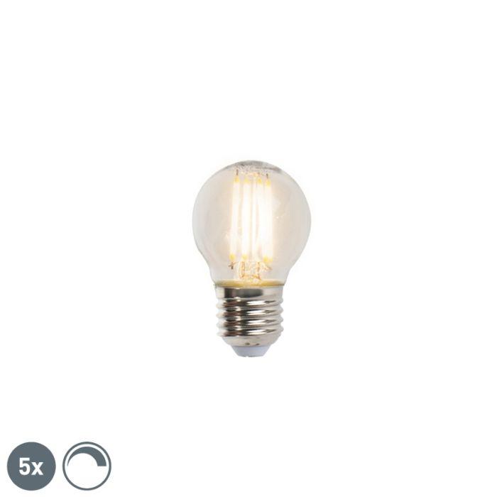 5-E27-reguliuojamų-LED-kaitinamųjų-rutulinių-lempų-rinkinys-5W-470lm-2700K