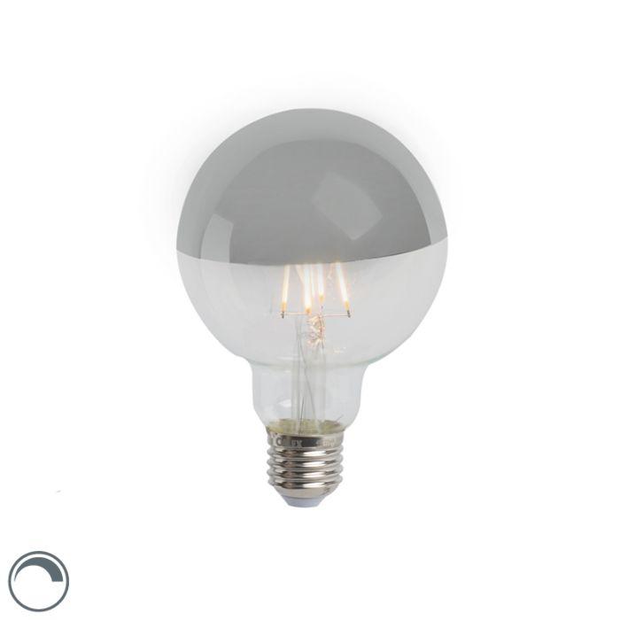 LED-kaitinamosios-lempos-galvos-veidrodis-sidabrinis-E27-240V-4W-280lm-2300K-G95-pritemdomas