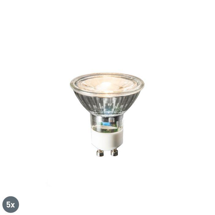 5-GU10-LED-lempučių-rinkinys-COB-3W-230lm-2700K