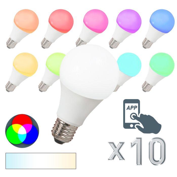 10-LED-lempučių-rinkinys-E27-240V-7W-500lm-A60-Smart-Light